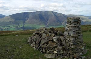Blencathra summit Lake District from Clough Head on the 25 peaks challenge