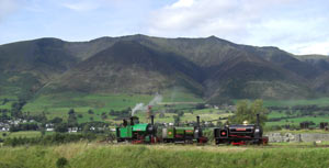 Blencathra Lake District with steam engine