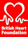 Raising funds for charity BHF logo