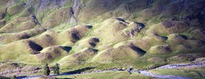 Drumlins in the upper  Ennerdale valley