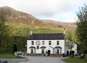 Fish Hotel Buttermere - start of Buttermere round challenge