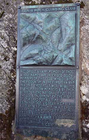 Great Gable summit plaque