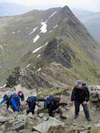 Lake District 3000ers challenge. Helvellyn Striding Edge