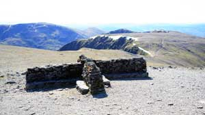 Helvellyn summit shelter in the Lake District