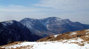 Buttermere round challenge - view to the High Stile range