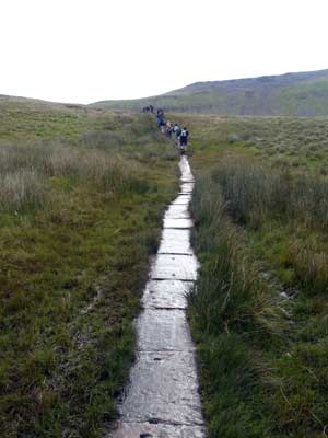 The path to Ingleborough 3rd of the 3 peaks