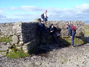 Ingleborough summit shelter