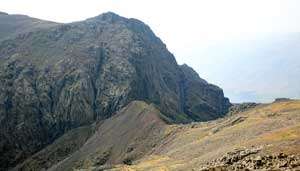 Mickledore Scafell Pike to Scafell route