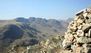 View of Crinkle Crags from Pike O'Blisco summit