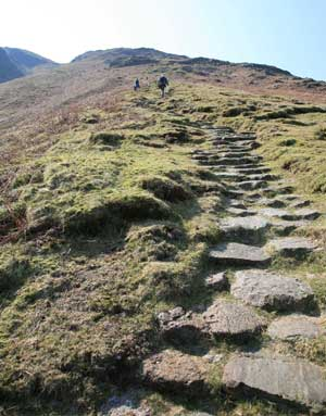 Redacre Gill path to Pike O'Blisco