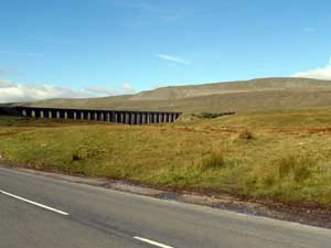 Ribblehead viaduct below the next of the 3 peaks Whernside
