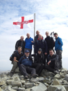 National three peaks challenge. Scafell Pike summit