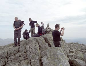 Scafell summit cairn