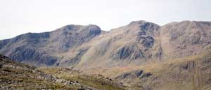 The Scafells as seen from Crinkle Crags
