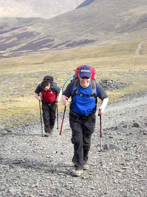 Approaching th esummit of Skiddaw in the Lake District