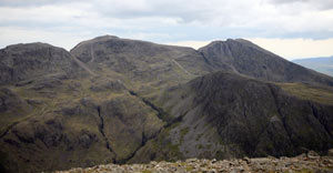 Broad Crag, Scafell Pike and Scafell from Great Gable